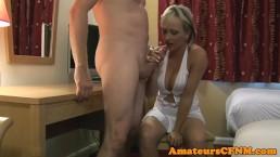 Busty CFNM amateur sensually...