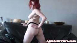 Redhead amateur babe pussyrubs...