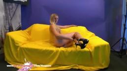 Beautiful Blonde Claudia fucks...