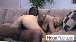 Interracial facial ending with...