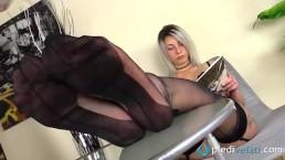 Blonde feet in fully...