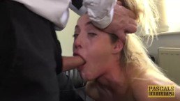 Teen subslut choked before...