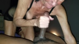 Wet Sticky GILF interracial...