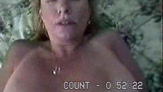 Couple fucking on parents bed
