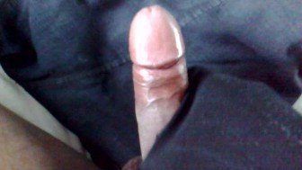 See me shoot my thick cum from my black dick