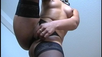 Horny business woman gets a visitor