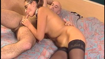 hey teach, what's long, round and cums to a head pt 3/4