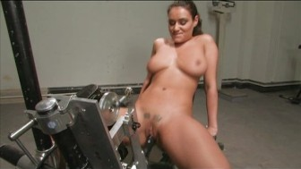 Charley Chase squirting on a machine
