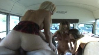 Jessica, Nika & Nikki - School Bus Fun