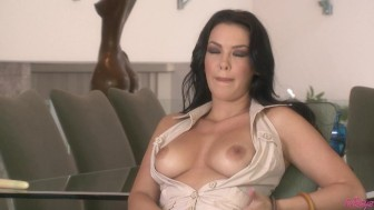 Sophia Dildos Her Shaved Pussy