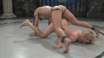 Action wrestling & Hard strapon pounding