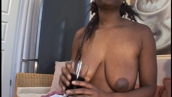 Black girl all over herself hard and fast pt 1/2