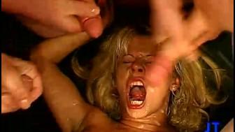 Blonde Girl Drowns in Cum