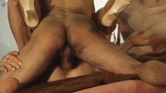 Blindfolded and double teamed