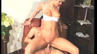 Using her mouth his dick slowly got bigger