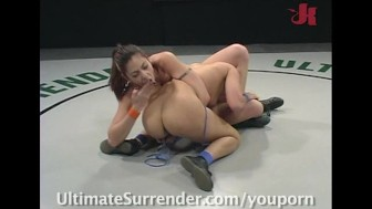 Nude wrestling done old way - loser gets fucked!