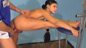 stretching gymnast girl gets fucked