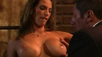 sexy busty brunette getting fucked hard