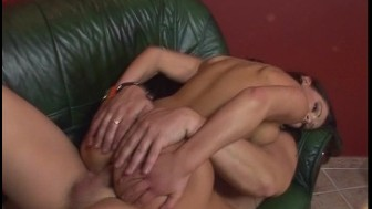 Pretty brunette doesn't look like a tight ass [CLIP]