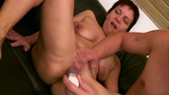 MILF brings someone to play with her