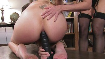 Lesbian sensual anal play
