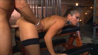 Rita Flatoyano ripped stocking sex
