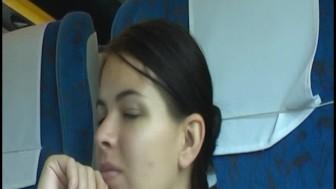 on a CROWDED train