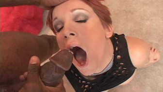 Redhead beauty plus black cock equals white sperm pt 3/3