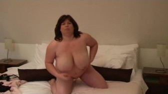 Amazing huge mature tits from home amateur