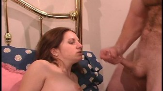 Big cock cums for her