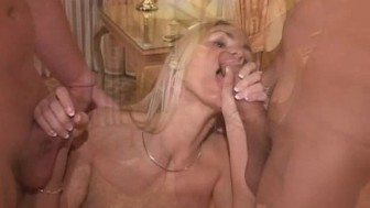 STICKY DOUBLE FACIAL FOR ALLIE – MMF THREESOME