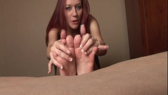 Toes dripping with cum