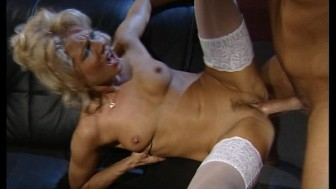 MILF gets her pussy whipped by a large cock