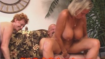 Something is. granny throws an orgy