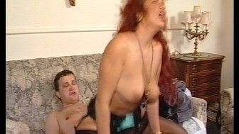 Wild haired redhead likes to be naughty