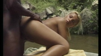 Sexy horny couple make love at the waterfalls (CLIP)
