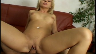 Horny blonde finds herself a foot long dong
