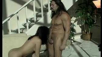 Sexy couple get hot and heavy in the backyard