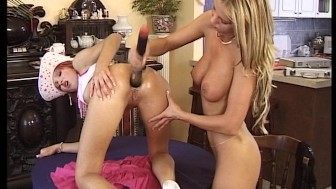 Sexy ladies use every toy they have to make each other cum