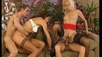 two for one - guys fuck 2 hot girls