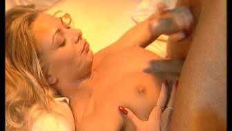 Hot blonde gets romantic while the brunette takes on two cocks. (Clip)