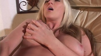 Big busted Michelle B gets busy while waiting for her birthday boy to cum