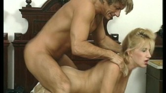 Hot blonde knows how to please and squeeze the cock.