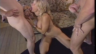 One bad cock in her pussy and the other bad cock in her mouth PT.2/2