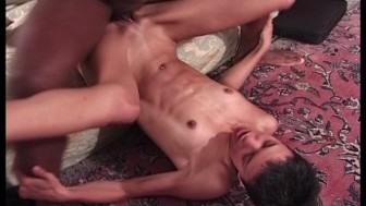 Sexy skinny girl sits on his large cock(clip)