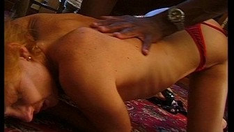 Horny housewife takes two loads of cum on her face