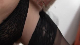 Mature Latina strips down and pleases herself