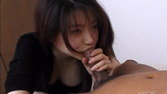 Sweet Asian girl sucks and fucks