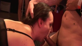 Gangbang with two girls