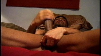 Huge black dick on a ripped black guy